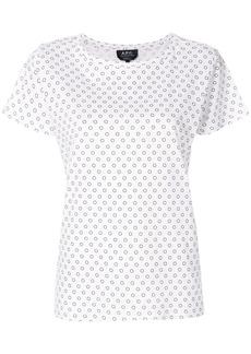 A.P.C. spot print T-shirt - White