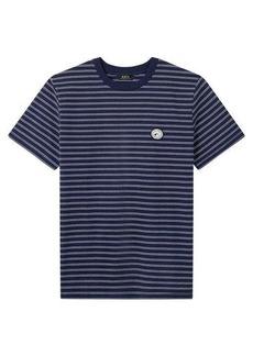 A.P.C. Stevie logo-patch striped cotton-jersey T-shirt