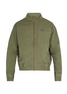 A.P.C. Stonewashed cotton bomber jacket