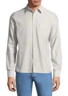 A.P.C. Stripe Cotton Button-Down Shirt