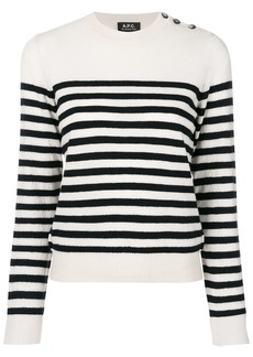 A.P.C. striped knitted top - Nude & Neutrals