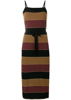 A.P.C. striped midi dress - Multicolour