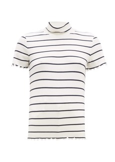 A.P.C. Striped roll-neck rib-knitted top