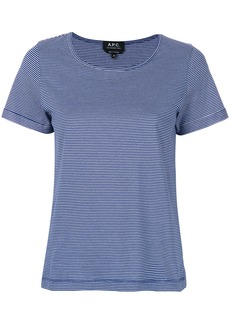 A.P.C. short sleeve striped T-shirt - Blue