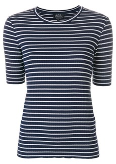 A.P.C. striped T-shirt - Blue