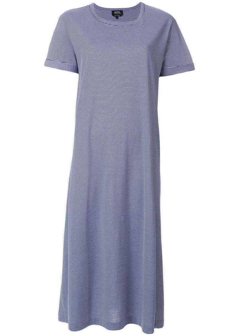 A.P.C. striped T-shirt dress - Blue