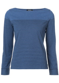 A.P.C. striped top - Blue