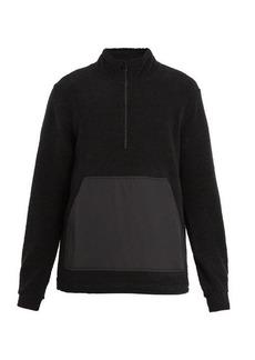 A.P.C. Summit half-zip wool-blend sweatshirt
