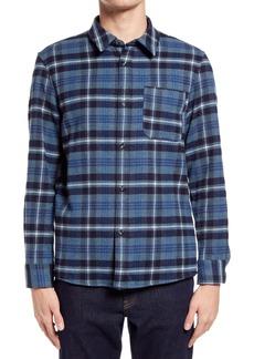 A.P.C. Surchemise Trek Button-Up Flannel Shirt Jacket