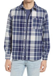 A.P.C. Surchemise Trek Plaid Wool Blend Shirt Jacket