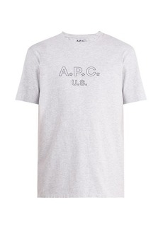 A.P.C. US Star and logo-print cotton-blend T-shirt