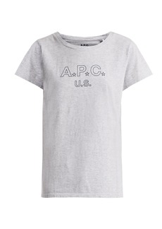A.P.C. US Star Logo cotton-blend jersey T-shirt