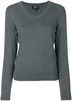 A.P.C. V-neck pullover - Grey