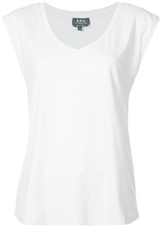 A.P.C. v-neck T-shirt - White