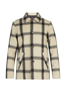 A.P.C. Vancouver checked wool-blend coat