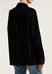 A.P.C. Velvet oversized shirt