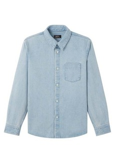 A.P.C. Victor patch-pocket denim shirt