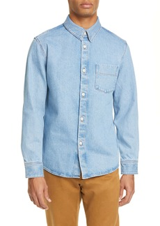 A.P.C. Victor Standard Fit Button-Up Denim Shirt