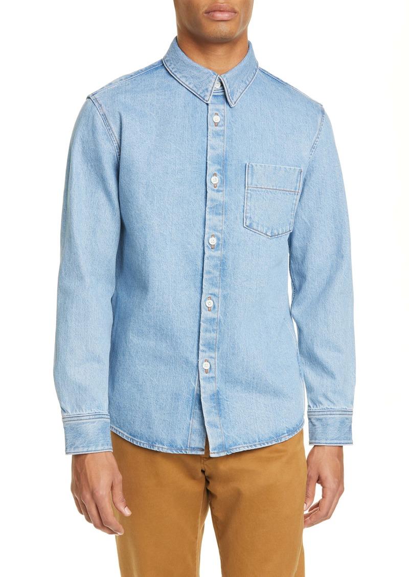 A.P.C. Victor Standard Fit Button-Up Denim Shirt