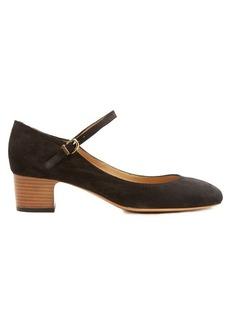 A.P.C. Victoria block-heel suede pumps