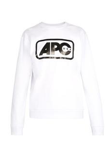 A.P.C. Vince logo-print cotton sweatshirt