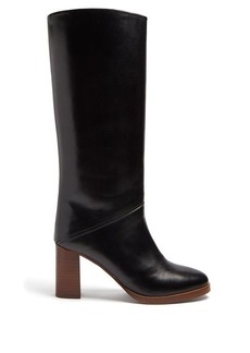 A.P.C. Violaine block-heel leather knee-high boots