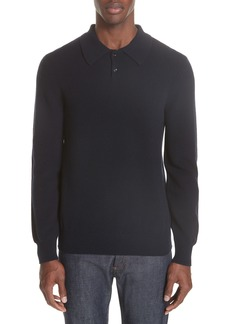 A.P.C. Wool & Cashmere Long Sleeve Polo