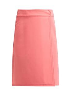 A.P.C. Wrap front A-line skirt