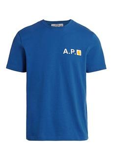 A.P.C. APC x Carharrt Logo Crewneck T-Shirt