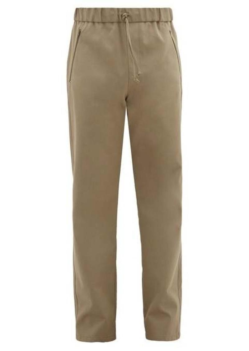 A.P.C. x Carhartt Drawstring-waist cotton-blend trousers