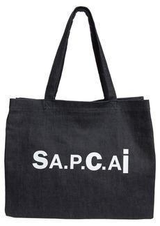 A.P.C. x Sacai Candy Logo Reversible Denim Tote