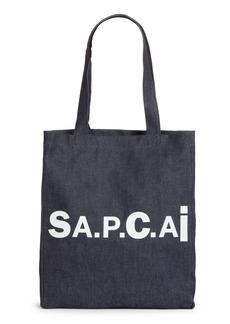 A.P.C. x Sacai Holly Logo Reversible Denim Tote