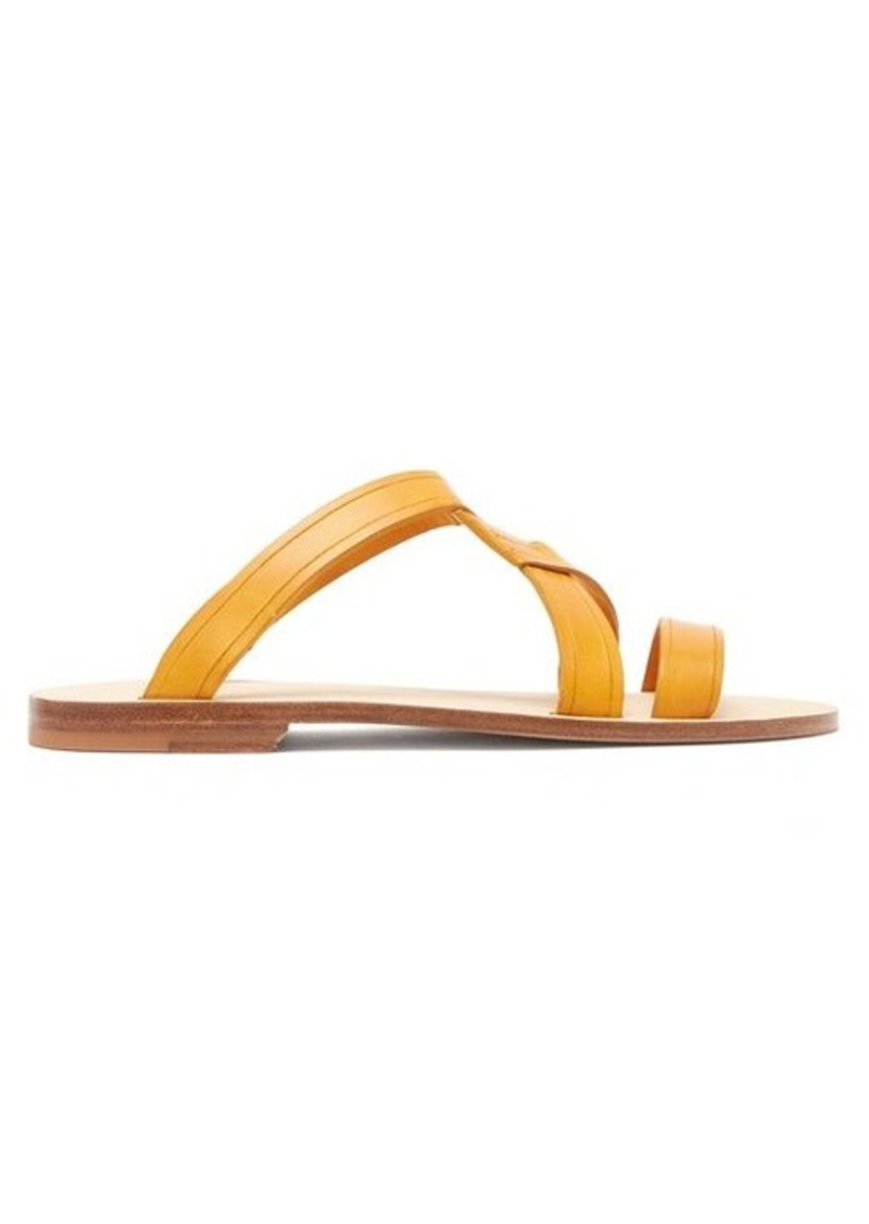 A.P.C. Yael cross-over leather slides