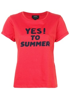 A.P.C. Yes print T-shirt - Red