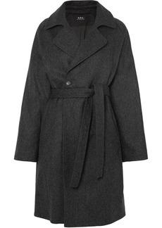 A.P.C. Bakerstreet Belted Wool-blend Coat