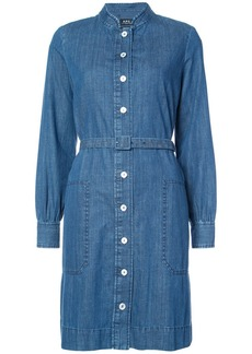 A.P.C. band collar denim shirt dress