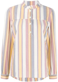A.P.C. band collar striped shirt