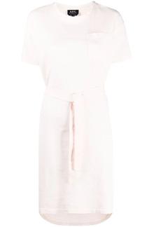 A.P.C. belted cotton T-shirt dress