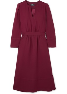 A.P.C. Belted Crepe Midi Dress