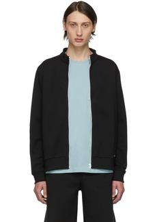 A.P.C. Black Jim Zip-Up Sweater