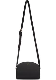 A.P.C. Black Mini Demi-Lune Bag