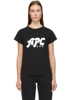 A.P.C. Black U.S. Carol T-Shirt
