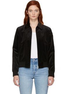 A.P.C. Black Velvet Candem Jacket