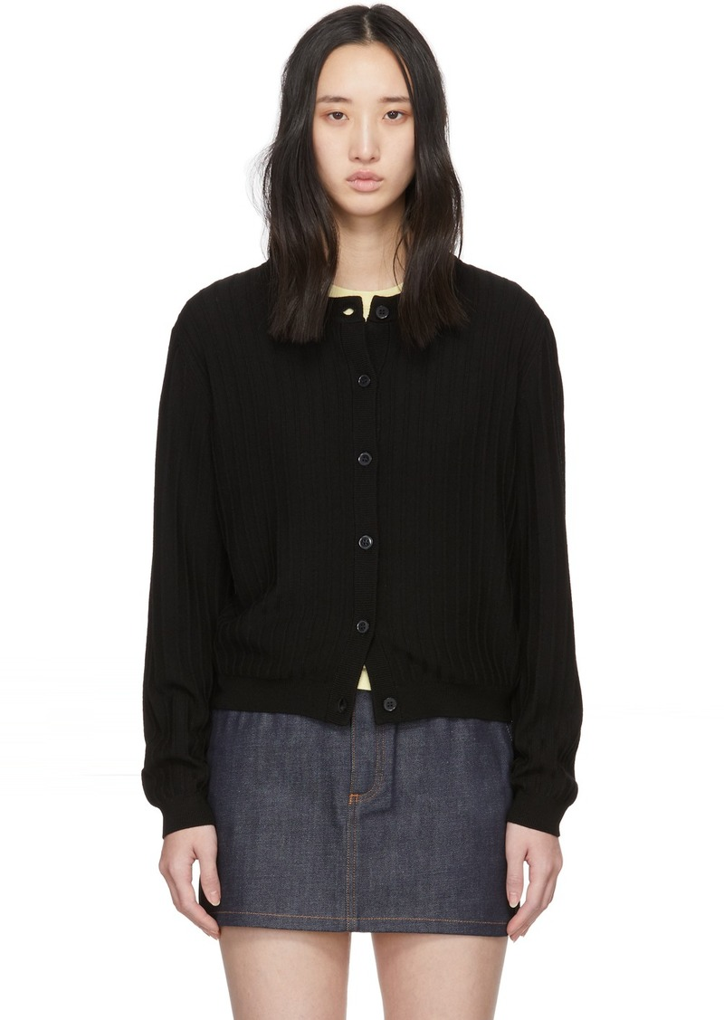 A.P.C. Black Wool Vicky Cardigan