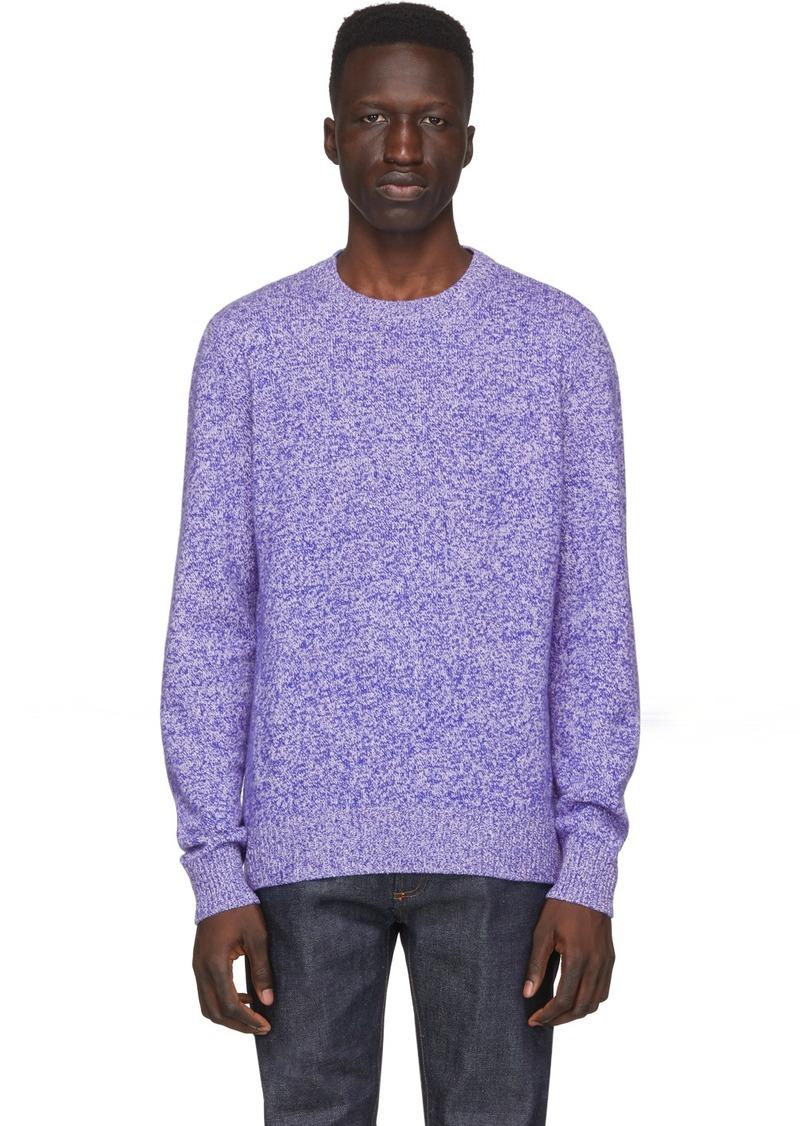 A.P.C. Blue & White Wool Marcus Sweatshirt