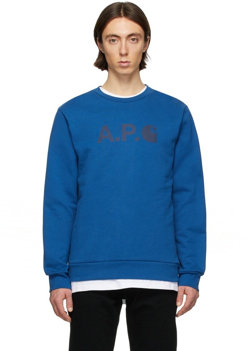 A.P.C. Blue Carhartt WIP Edition Ice H Sweatshirt