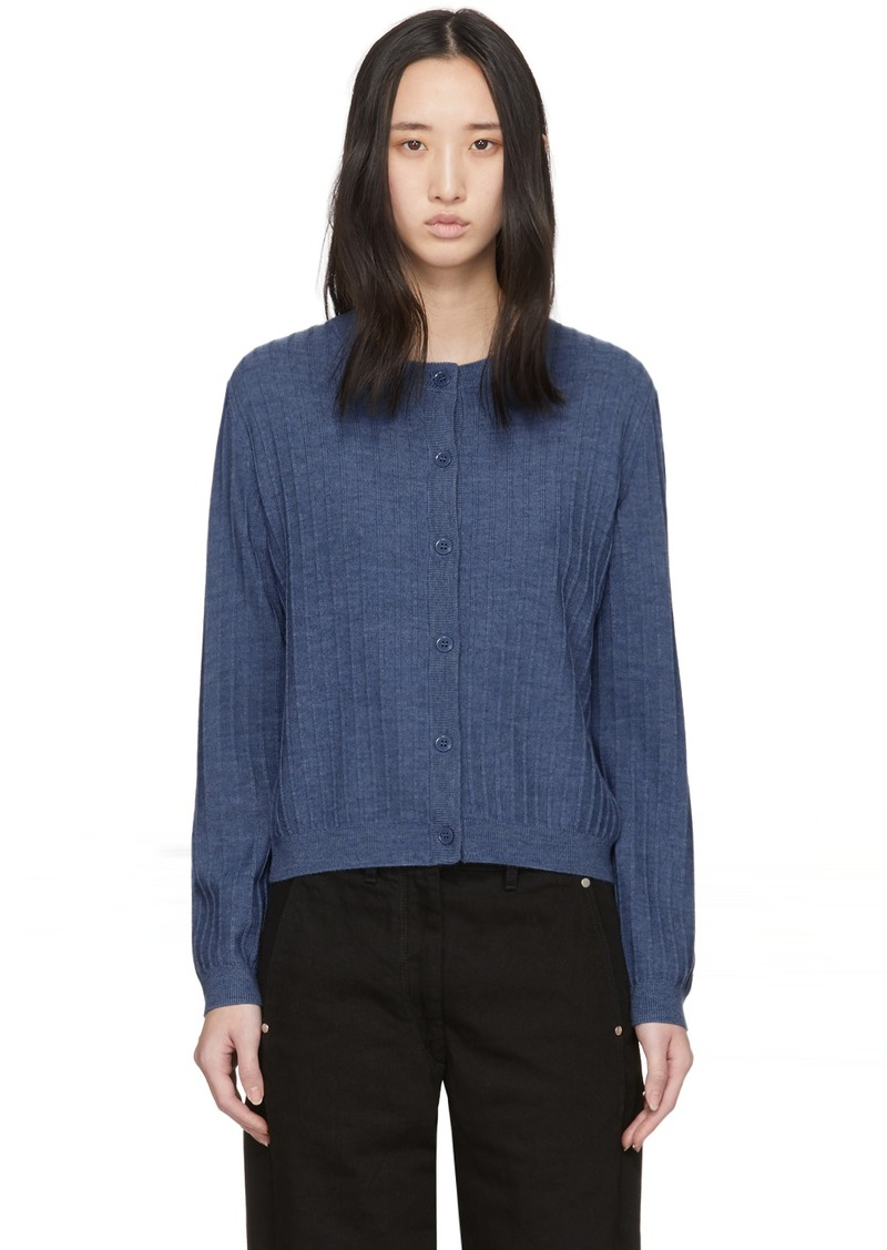 A.P.C. Blue Wool Vicky Cardigan