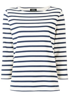 A.P.C. boat neck striped top
