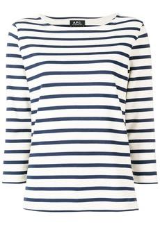 A.P.C. boat neck striped top
