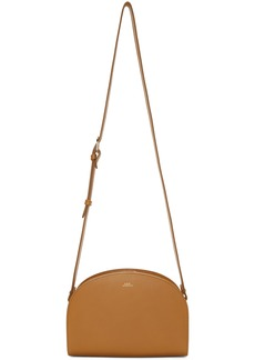 A.P.C. Brown Half Moon Bag